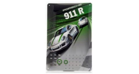 Porsche WAX05000003 ポルシェ 911 R メタルシート カレンダー 20 × 30 cm