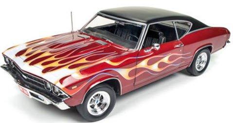 アメリカンマッスル AMM1108 1/18 1969 Chevy Chevelle SS396 (Hot Rod Magazine)マルーン/ファイヤーパタ…