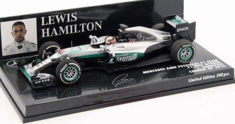 ミニチャンプス 417160244 1/43 メルセデス AMG ペトロナス F1 W07 #44 ハイブリッド ルイス・ハミルトン 中国GP 20…