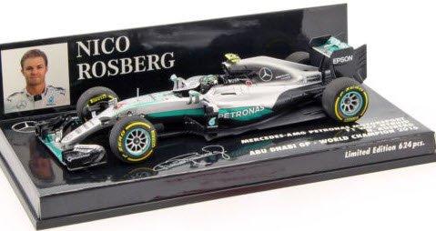 ミニチャンプス 410160706 1/43 メルセデス AMG ペトロナス フォーミュラ ワン チーム F1 W07 ハイブリッド #6 ニコ・ロズベルグ ワールドチャンピオン 20…
