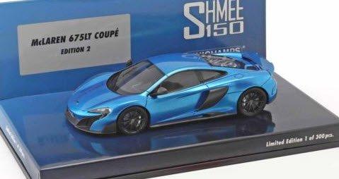 ミニチャンプス 537154423 1/43 マクラーレン 675LT Shmee150 cerulean ブルー Exclusive