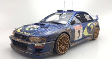 TOPMARQUES TOP040BD 1/18 スバル インプレッサ S4 No,3 ツール ド コルス 1998 ウィナー C.マクレー ウェザリング(汚し)…
