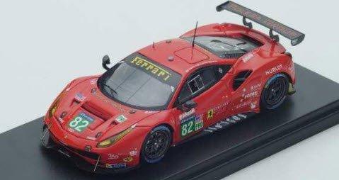 ルックスマート LSLM068 1/43 Ferrari 488 GTE No.82 Risi Competizione Le Mans 2017 T.Vilander - G.Fisichella