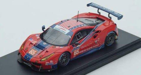 ルックスマート LSLM074 1/43 Ferrari 488 GTE No.65 Scuderia Corsa Le Mans 2017 C.Nielsen - A.Balzan