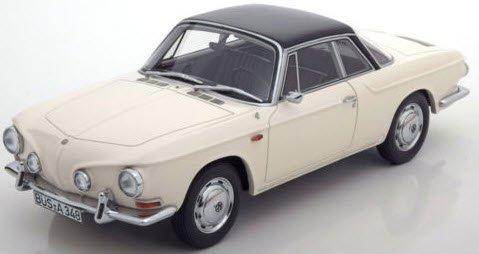 BoS Models BOS348 1/18 VW カルマンギア T34 1961 ホワイト/ブラック