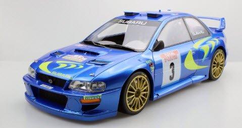 TOPMARQUES TMR12-02B 1/12 スバル インプレッサ S4 No.3 WRC 1998 ツール ド コルス