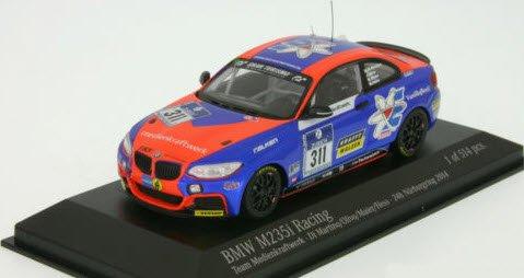 ミニチャンプス 437142411 1/43 BMW M 235I レーシング `TEAM MEDIENKRAFTWERK` 24H ニュル 2014