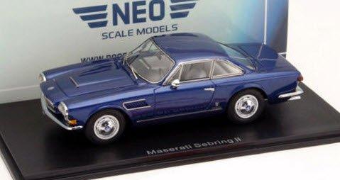 NEO NEO45643 1/43 マセラティ セブリング シリーズ II メタリックブルー