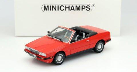 ミニチャンプス 107123530 1/18 マセラティ BITURBO スパイダー 1986 レッド
