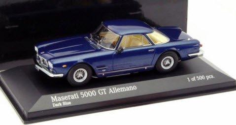 ミニチャンプス 437123322 1/43 マセラティ 5000 GT ALLEMANO 1962 ダークブルー
