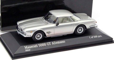 ミニチャンプス 437123324 1/43 マセラティ 5000 GT ALLEMANO 1962 シルバー