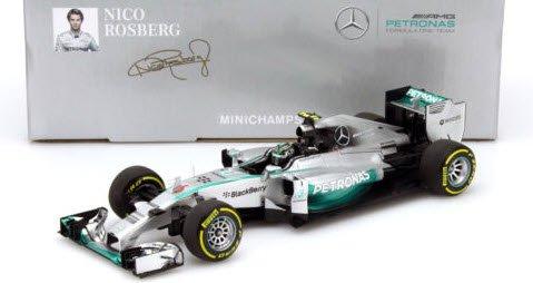 #6 Mercedes AMG Petronas W05 Nico Rosberg ABU DHABI GP 2014 F1 1//43 Minichamps