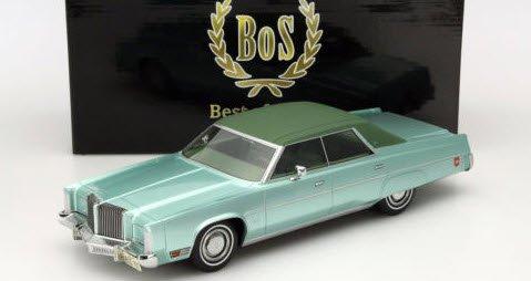 BoS Models BOS097 1/18 クライスラー インペリアル ルバロン 4ドア セダン 1975 グリーン