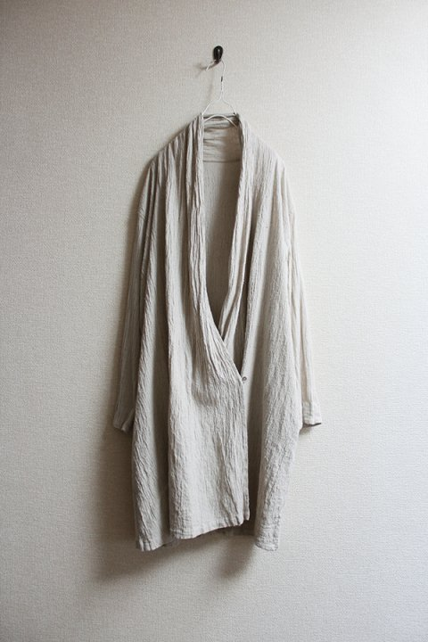 Hand made in Nepal   手織りクレープシルク ロングカーディガン