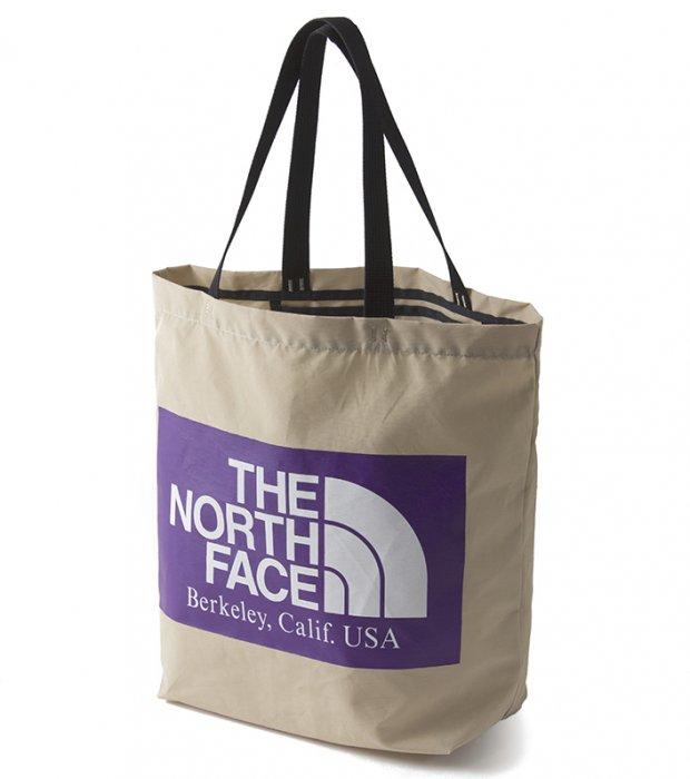 "THE NORTH FACE PURPLE LABEL ""Logo Print Tote"" BEIGE"