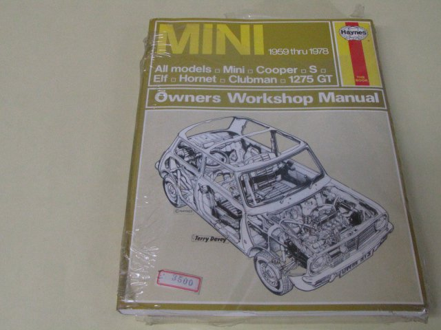 Haynes THE BOOK MINI 1959 thru 1978 cooper ミニクーパー 整備書