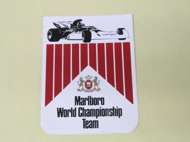 古めのステッカー Marlboro World Championship Team BRM F-1