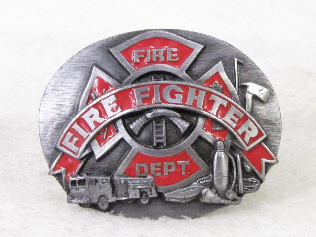 消防バックル SISKIYOU 1991 FIRE FIGHTER MADE IN USA