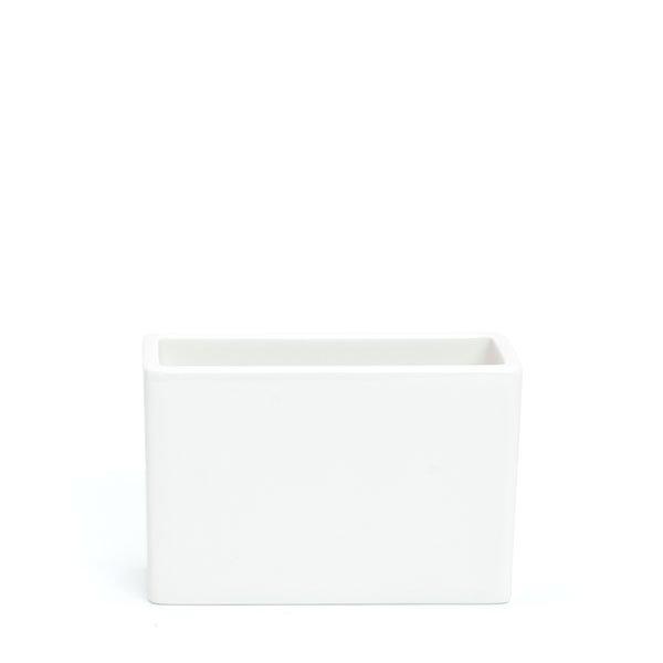 倉敷意匠/ 白磁角ポット葉書サイズ
