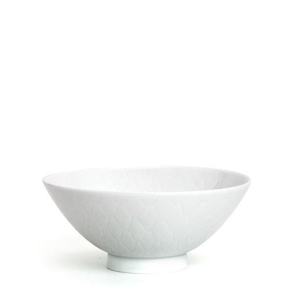 彫付「網茶碗」小(箱入り)