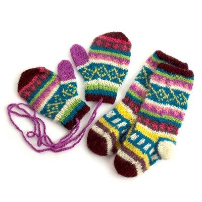 NILO/Kiddy knit Lake ミトン・ソックスセット