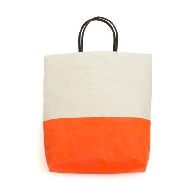 SIWA|紙和/【限定】 縦型バッグ バイカラー (グレー オレンジ)