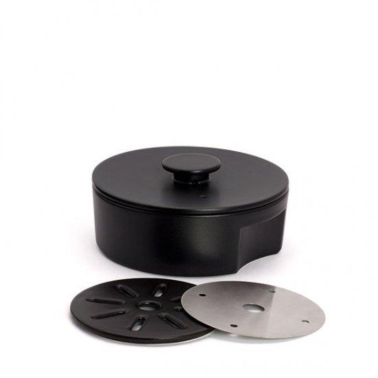 ceramic japan/do-nabe190 IH用プレートセット (ブラック)