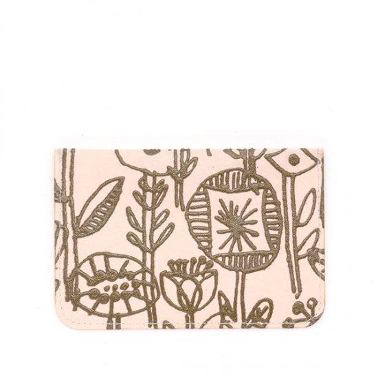 SIWA×ミナ ペルホネン/パスケース letter of flowers