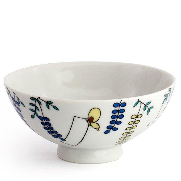 KUTANI SEAL/お花のごはん茶碗(藤)