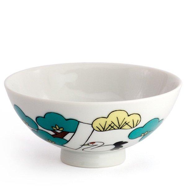 KUTANI SEAL/お花のごはん茶碗(松)