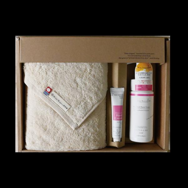 Gift Box L(フェイスタオル・ハンドクリーム20g・ハンドソープ150ml)