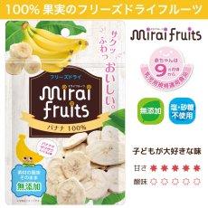 <img class='new_mark_img1' src='https://img.shop-pro.jp/img/new/icons50.gif' style='border:none;display:inline;margin:0px;padding:0px;width:auto;' />mirai fruits バナナ 12g