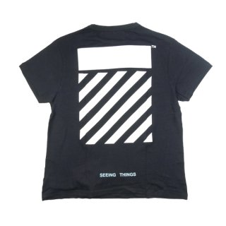 OFF WHITE オフホワイト 17AW DIAG CARAVAGGIO TEE SS Tシャツ 黒 Size【M】 【新古品・未使用品】