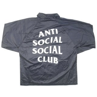 Anti Social Social Club アンチソーシャルソーシャルクラブ 17AW Never gonna give you up コーチジャケット 黒 Size【S】 【新古品・未使用品】