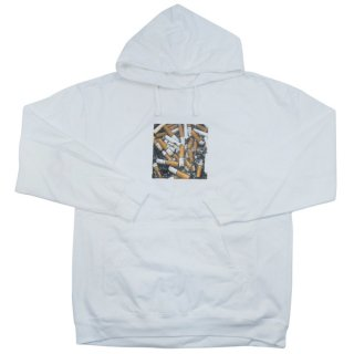 Anti Social Social Club アンチソーシャルソーシャルクラブ 17AW Usual White Hoodie パーカー 白 Size【L】 【中古品-ほぼ新品】【中古】