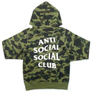 A BATHING APE ア ベイシング エイプ ×Anti Social Social Club 17SS 1ST CAMO PULLOVER HOODIE
