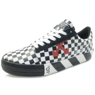 OFF WHITE オフホワイト 18SS VULC LOW TOP SNEAKER / ALL OVER NO COLOR スニーカー 白黒 Size【40】 【新古品・未使用品】