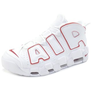 NIKE ナイキ AIR MORE UPTEMPO 96 921948-102 スニーカー 白赤 Size【28.5cm】 【中古品-ほぼ新品】【中古】