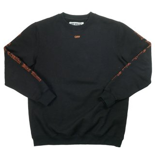 OFF WHITE ×VLONE Every Living Creative Dies Alone Sweat クルーネックスウェット 黒 Size【S】 【中古品-良い】
