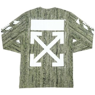 OFF WHITE オフホワイト 19SS REAL CAMOU CARRYOVER L/S ロンT 緑 Size【L】 【新古品・未使用品】