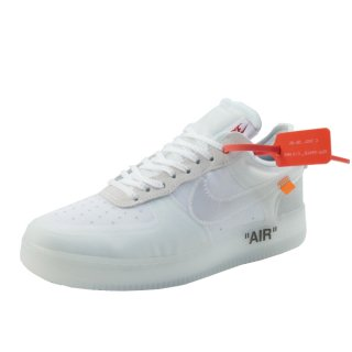 OFF WHITE オフホワイト ×NIKE THE 10 AIR FORCE 1 LOW AO4606-100 スニーカー 白 Size【27.5cm】 【中古品-ほぼ新品】【中古】