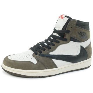 NIKE ×TRAVIS SCOTT AIR JORDAN エアジョーダン 1 HIGH OG TS SP CD4487-100 スニーカー 茶 Size【27.0cm】 【新古品・未使用品】