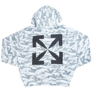 OFF WHITE オフホワイト 20SS ARROWS PATTERN OVER HOODIE パーカー 白 Size【XL】 【新古品・未使用品】