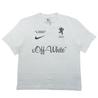 OFF WHITE オフホワイト ×NIKE ナイキ Football Collection Tee Tシャツ 白 Size【S】 【新古品・未使用品】
