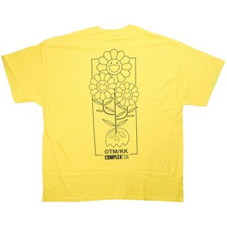 MURAKAMI TAKASHI ムラカミタカシ ×Complex Con Cluster Outline Tee Tシャツ 黄 Size【XXL】 【新古品・未使用品】