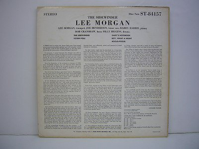 Morgan Lee The Sidewinder Blue Note Bst 84157 Stereo