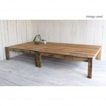 アンティーク風 無垢材の折りたたみ木製ベッド       BD-001