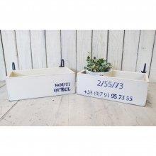 アンティーク風 無垢材の木製プランター 壁掛けタイプ ガーデニング ディスプレー SHOP什器 IZ-066