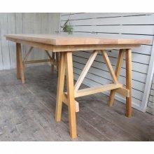 天然木 ひのき無垢材で作る アトリエ馬脚テーブル DT-045