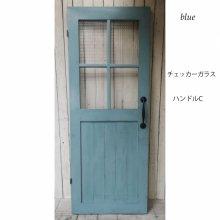 アンティーク風ドア 無垢材ドア 木製ガラス扉 SILVIO   SD-079